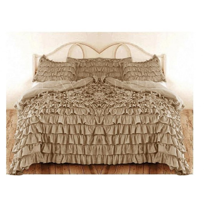 Awesome Super Deep Pocket Fitted Sheet U0026 Waterfall Ruffle Duvet Cover At ... Pictures Gallery